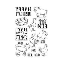 Hero Arts Hay Party Animals Clear Unmounted Rubber Stamp Set