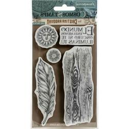 Stamperia HD Natural Rubber Stamp COSMOS FEATHER 10 x 16.5 c