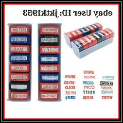 Common DIY Home Office Complete Business Rubber Stamp 16 Set