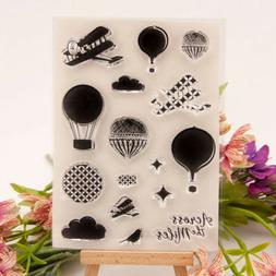 hot air balloon clear transparent rubber stamp