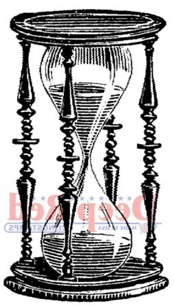 Deep Red Stamps Hourglass Rubber Cling Stamp