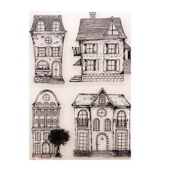 House Clear Silicone Rubber Seal Stamps DIY Album Scrapbooki