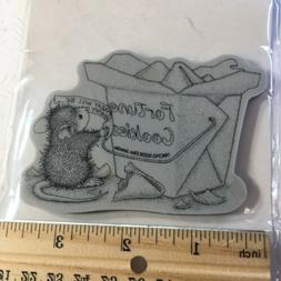 Stampendous House Mouse Cling Rubber Stamp Good Fortune Cook