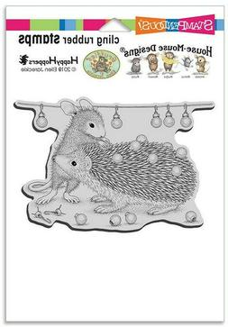 Stampendous House Mouse Rubber Cling Stamp Holiday Hedgehog