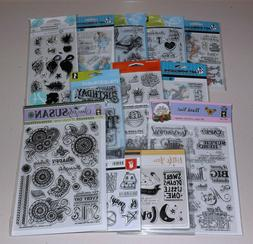 Huge Lot of Clear Stamps - Art Impressions, Inkadinkado, Ham