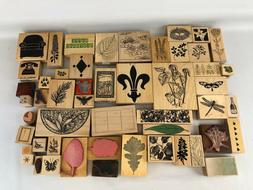 Huge Lot Rubber Stamp Card Making Scrapbook  Mixed Brands 50