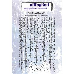 "IndigoBlu IND0199 Cling Mounted Stamp, 5"" x 4"", Rain Droplet"