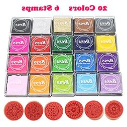 Rubber Stamps Pad Ink Pad Stamps DIY Colors Crafts Ink Pads
