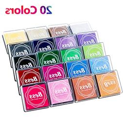 Fixget 20 Colors Ink Pad Stamps, Creative DIY Rainbow Color