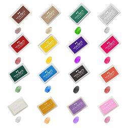 Ink Pads, GYORGKSHI Washable Ink Stamp Pads for Kids, Craft