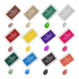 ink stamp pads anrain fingerprint stamp pad