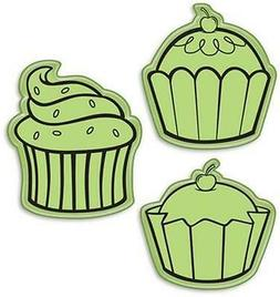 Inkadinkado Inkadinkaclings Rubber Cling Stamps CUPCAKES 3Pc