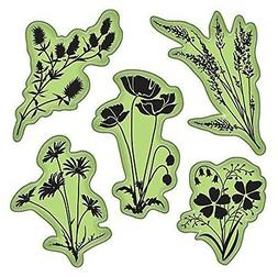 Inkadinkado 65-32080 Stamping Gear Cling Stamps, Meadow Flow