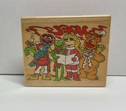 Inkadinkado Muppets Caroling.  wooden rubber stamp.