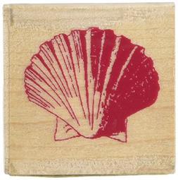 Inkadinkado Scallop Shell Wood Stamp