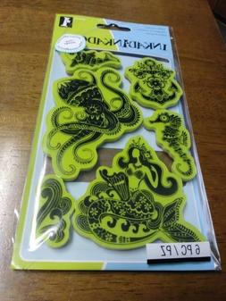inkadinkado sealife/mermaid rubber stamp set