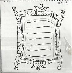 Inque Boutique Rubber Stamp with Mat Royal Journal 2.5 x 2.5