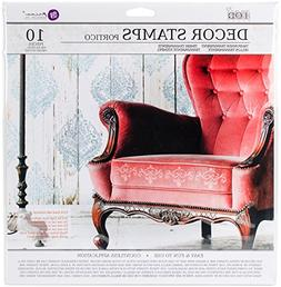 "Prima IOD Decor Stamps PORTICO Clear Acrylic 12x12"" Stamp Se"