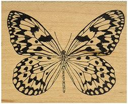 Judikins J2435G Rubber Stamp, 3 by 2.5-Inch, Butterfly No.3