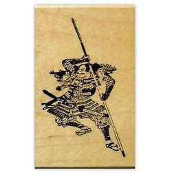 Japanese WARRIOR Samurai Mounted rubber stamp, ronin, sword,