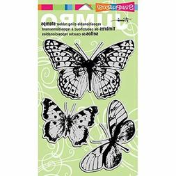 Stampendous Jumbo Cling Rubber Stamp Sets, Butterfly Trio Im