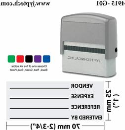 JYP PA2860 Pre-Inked Rubber Stamp w.  RETURN TO SENDER, 5 Co