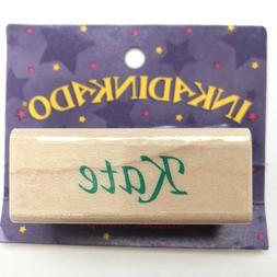 KATE Inkadinkado Name Personalized Calligraphy Rubber Stamp