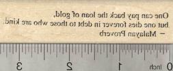 Kindness Quote Rubber Stamp, Malayan Proverb H28111 WM