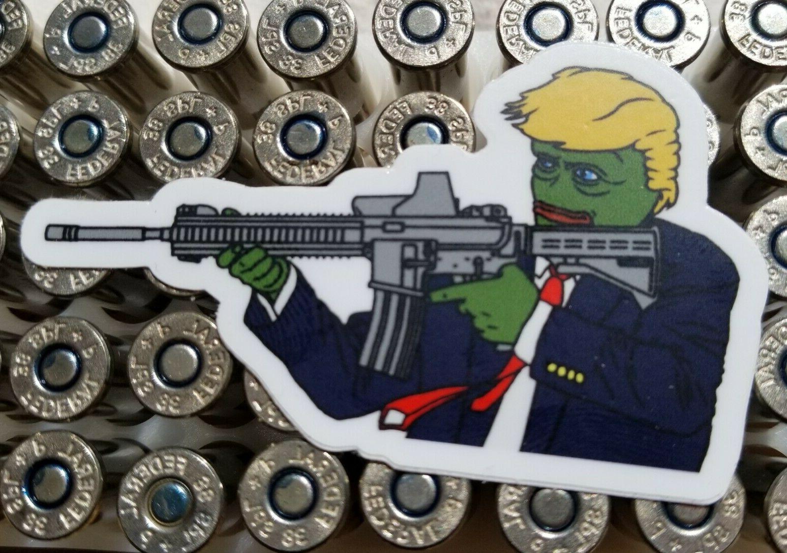 NEW Donald Trump Here Rubber $20s + TWO RARE PEPE Custom
