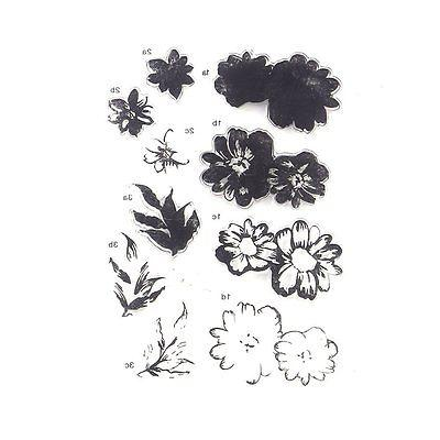 DECORA 1 Piece Color Layering Flower Clear Rubber Stamp for