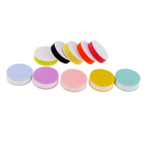 10x Colorful Round Rubber Stamp Carving Blocks for DIY Own S