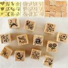 12Pcs/set  Vintage Flower Lace Wooden Rubber Stamp Letters D