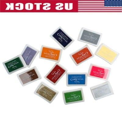 15 color large rubber stamps craft pigment