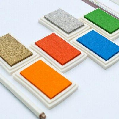 15Color Large Rubber Stamp Craft Ink Pad Pigment For Paper W