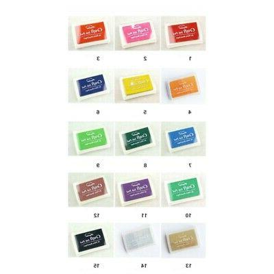 15 Colors Stamp Craft Ink Pigment For Fabric