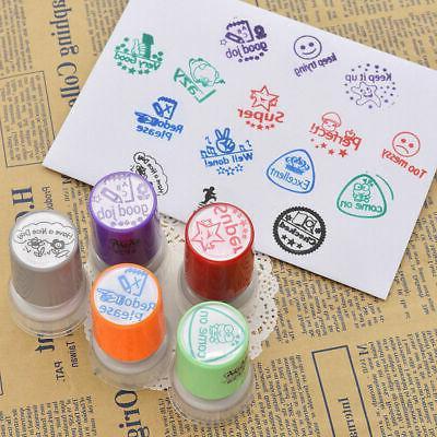 1pc teacher round rubber stamp self inking