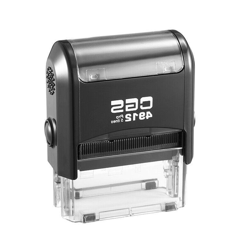 CGS4912 Address Self Inking Rubber Stamp+one