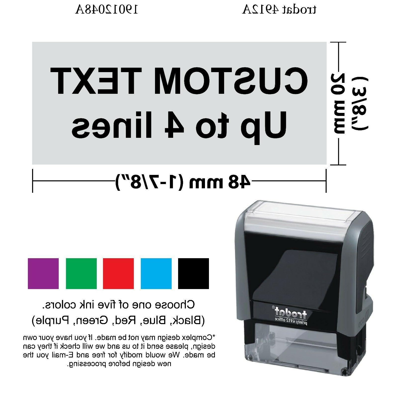4912 self inking rubber stamp custom