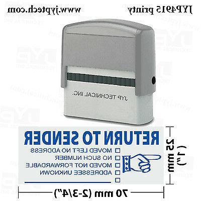 Trodat 4915 Self Rubber Stamp, Stamp RETURN TO SENDER, Color