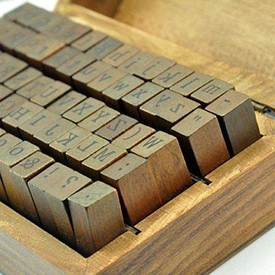 70pcs Stamps Wooden Rubber And Symbol