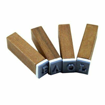 70pcs Stamps Wooden Number And Symbol Stamp Set