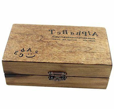 70pcs Alphabet Wooden Rubber And Symbol