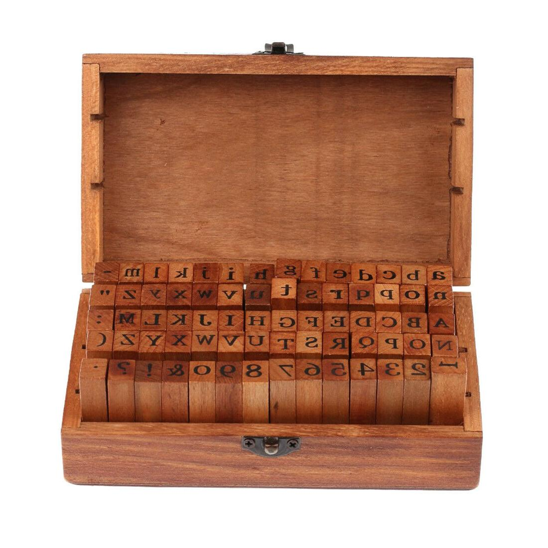 70pcs Vintage And Alphabet Rubber Stamps Set With