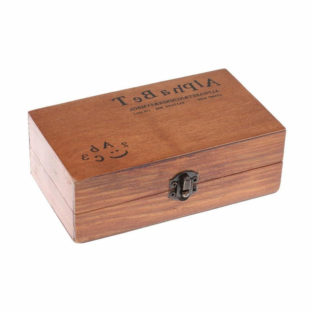 70pcs Vintage DIY And Alphabet Letter Wood Rubber Stamps Box NEW