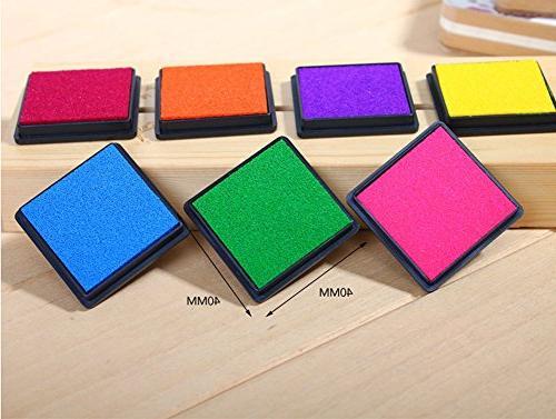 T O K G O - Multicolor Rainbow DIY Ink Pad Set - Contains 7