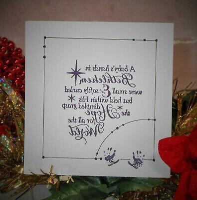 A Bethlehem Rubber Stamp Religious