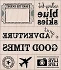A GREAT ADVENTURE Rubber Stamps LP286 Hero Arts Set of 7 Bra