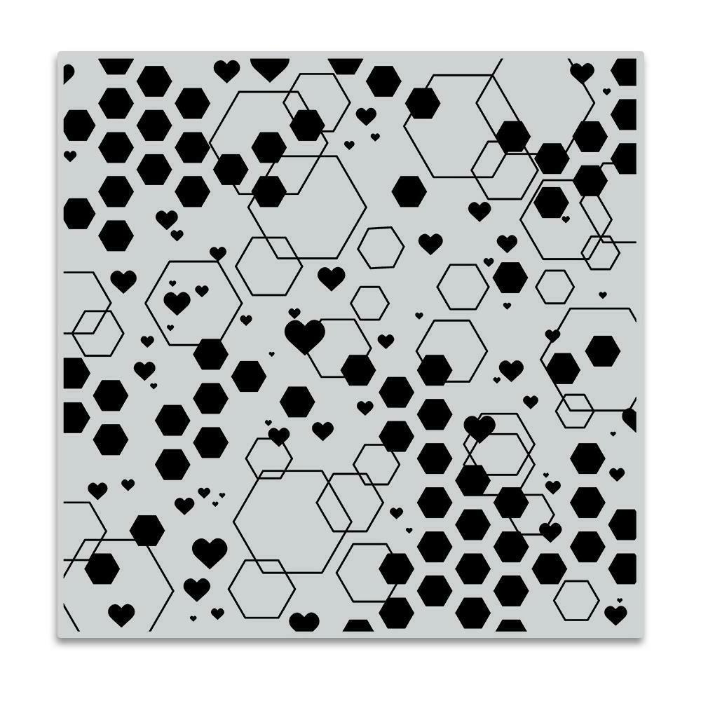 abstract honeycomb background cling bold prints stamp
