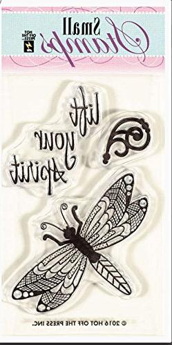 Hot Off The Press Acrylic Stamps 2X3.25-Zen Dragonfly