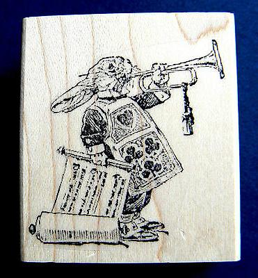 "Alice in Wonderland ""rabbit"" rubber stamp small WM 2x2 P7"